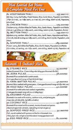 Set Menu Rice Picture Of Mini Indian Restaurant Thu Dau Mot