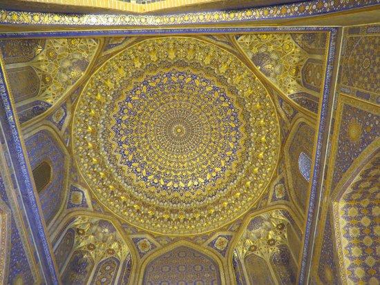 Tillya Kori Madrasah: ドームも素晴らしいです