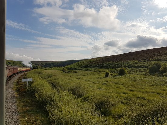 North Yorkshire Moors Railway: The moors seen from the train