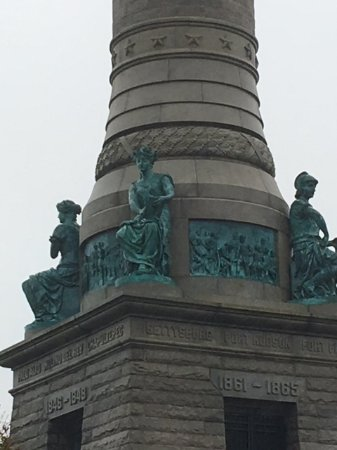 East Rock Park: Beautiful architecture and detail on the monument.
