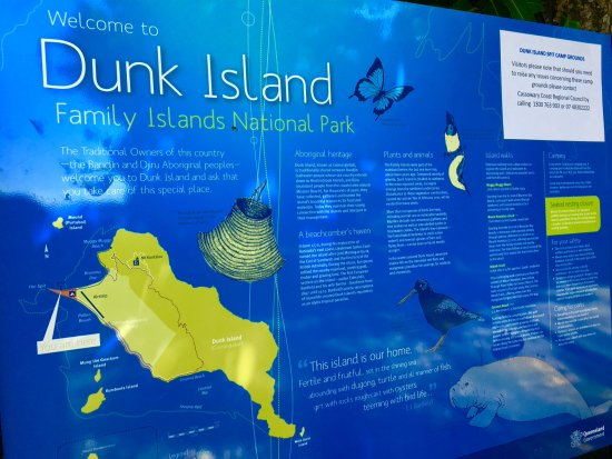 Wongaling Beach, Australia: Map of Dunk Island National Park.