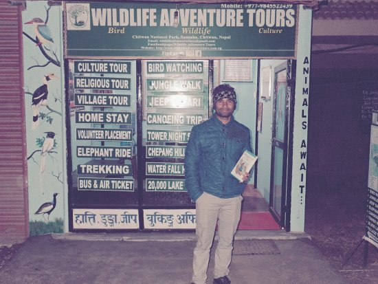 Chitwan National Park, เนปาล: Manager in front of Wildlife Adventure Tours office