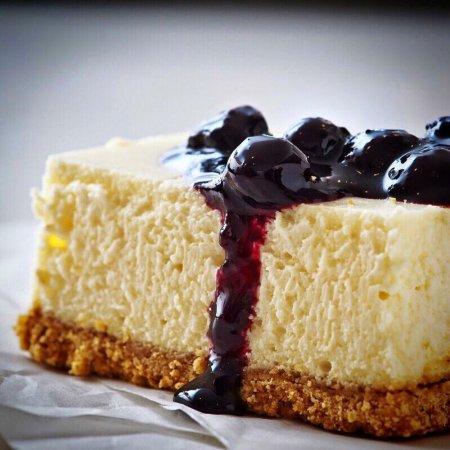 Chappaqua, Estado de Nueva York: Cheesecake with blueberries