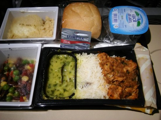 Seating, chicken meal - Picture of Etihad Airways ... Gluten Intolerant Meal Etihad