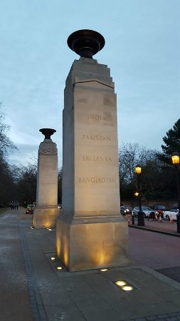 The memorial gates.
