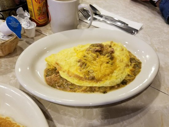 Coffee Cup: Omlette with Chili Verde