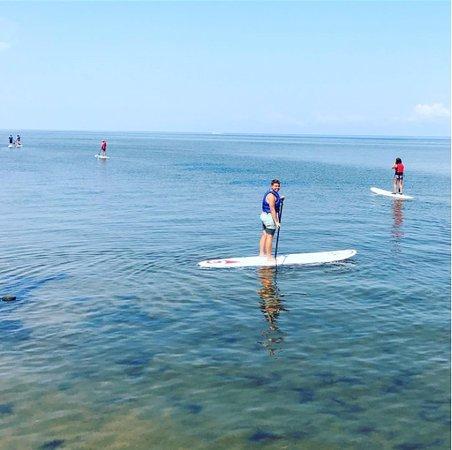 Rodanthe, NC: 1st time paddle boarding on the sound OBX