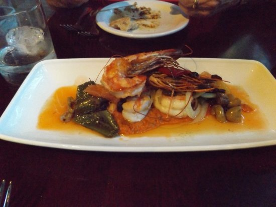 Camp Sherman, Όρεγκον: Fabulous Prawn Dish at Kokanee Cafe