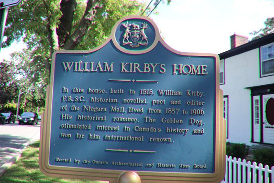 Niagara-on-the-Lake, Kanada: The plaque of William Kirby's Home