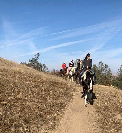 Creston, CA: our family on horseback