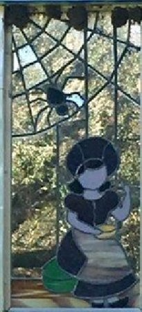 Ona, ฟลอริด้า: Stained glass - Little Miss Muffet