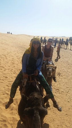 Casablanca, Marruecos: Our day with the camels!