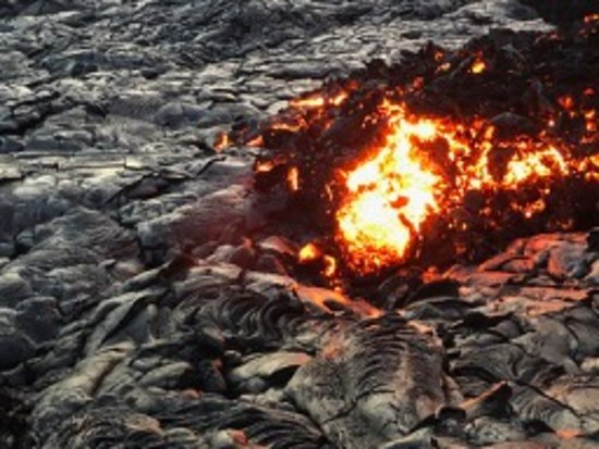 Кио, Гавайи: Burning stone