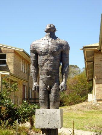North Head Sanctuary: Statue in military area