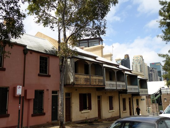 Old Victorian houses outside Barangaroo Reserve Sydney Picture of