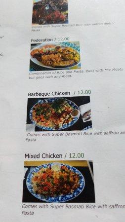 Aberdeen, SD: Snapshot of the menu since no info on tripadvisor yet.