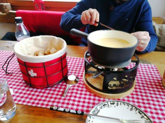 Sorenberg, Suiza: chäs fondü