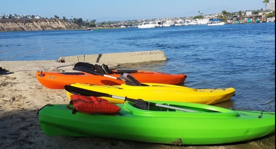 Our new Kayak and Paddleboard launch spot in beautiful Newport Beach CA harbor