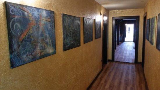 Bolton Valley, VT: Artwork in the hallways.