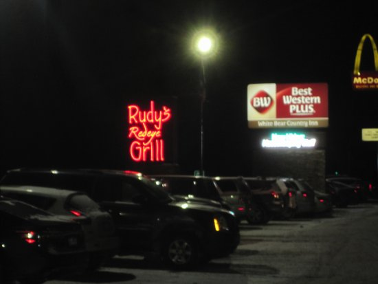 Rudy's Redeye Grill: Outside sign