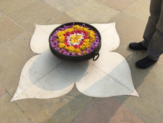 A decorative floral display.