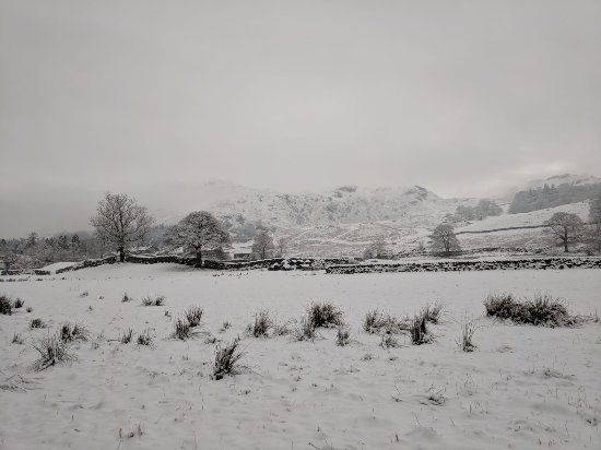 Little Langdale, UK: Countryside in snow