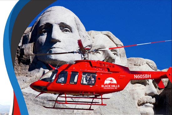 Keystone, Güney Dakota: Mt. Rushmore Helicopter Tours