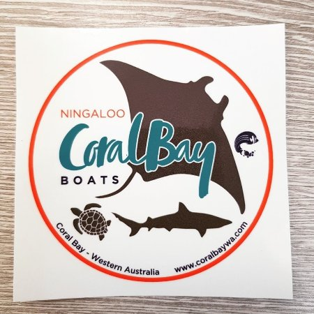 Ningaloo Coral Bay Boats sticker
