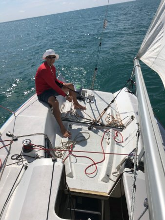 Sail In Asia : Working the tiller