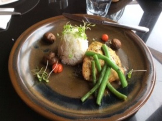 The Bay House : Pan friend fresh blue nose with coconut rice