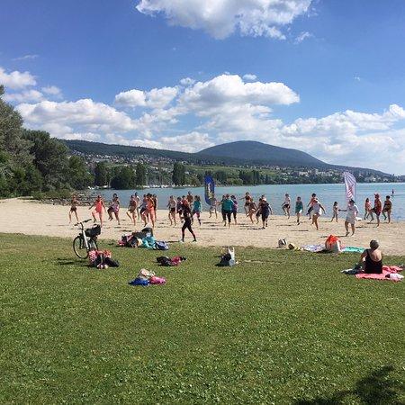 Camping paradis plage colombier suisse voir les for Piscine du colombier