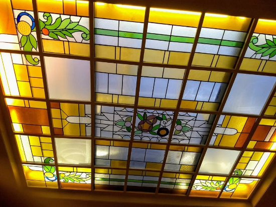 Hotel Louisa : Plafond in ontbijtruimte