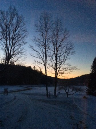 Roxbury, VT: Morning has broken...