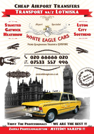 London Airport Transfers - Stansted Heathrow Gatwick Luton City Southend - White Eagle Cars - TA