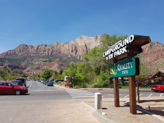 Zion Canyon Campground: Eingang
