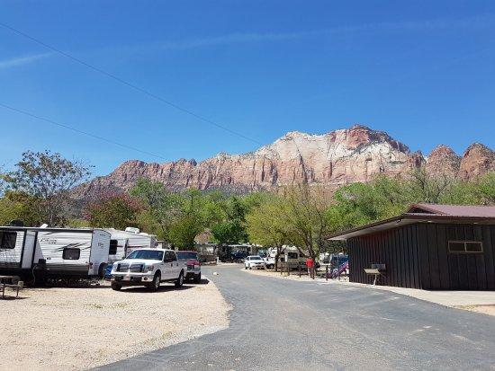 Zion Canyon Campground: weitläufige Anlage