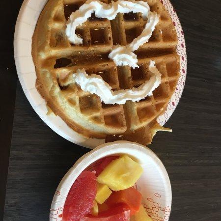 Adairsville, GA: Waffle and fruit
