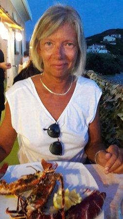 Santa Caterina di Pittinuri, Italie : Une demi-langouste généreuse et excellente