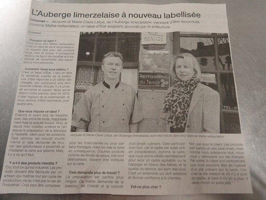 Limerzel, Frankrijk: Un titre qui valorisenotre métier.