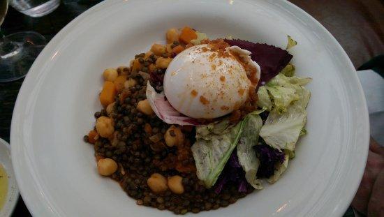 Gee's Restaurant : Burrata with lentils, radicchio, etc. Also very nice