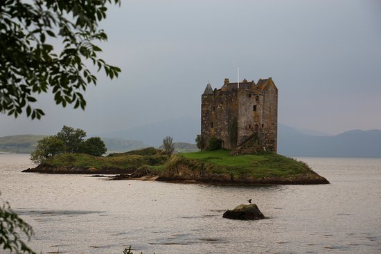 Appin, UK: View from shore.