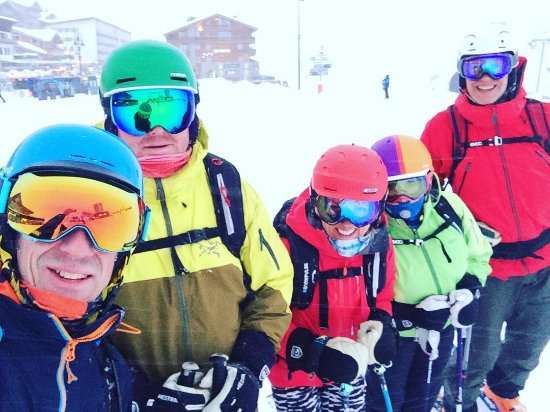 Tignes, Prancis: Never a dull moment hunting powder with these mischief makers