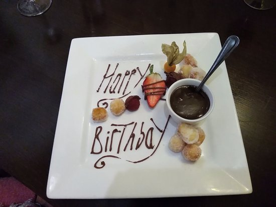 Probus, UK: Compliments of the Chef for Sue's Birthday.