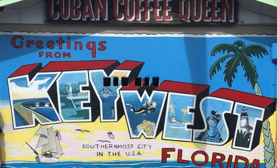 Old Town Trolley Tours Key West : mural at Cuban Coffee Queen