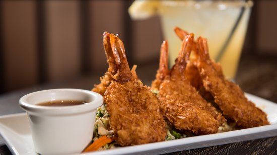 San Bruno, CA: Crispy coconut shrimp with a sweet/tangy dipping sauce