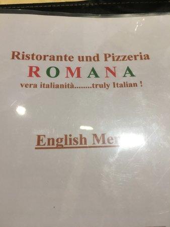 English menu.