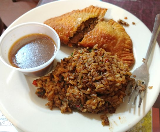 Natchitoches, Luizjana: meat pie and dirty rice