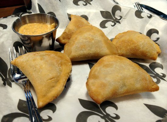 Natchitoches, LA: mini meat pies....didn't need the dipping sauce!