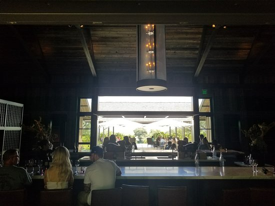 Ram's Gate Winery: you can sit at the bar and enjoy the view outside