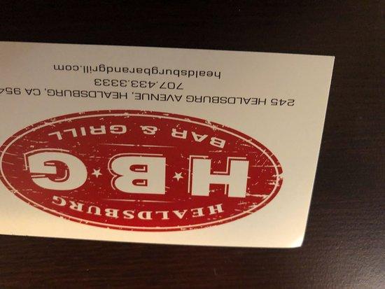 Healdsburg Bar & Grill: ID BAR